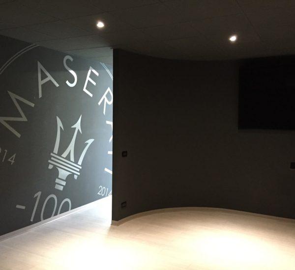 Allestimento aree dedicate, stabilimento Maserati