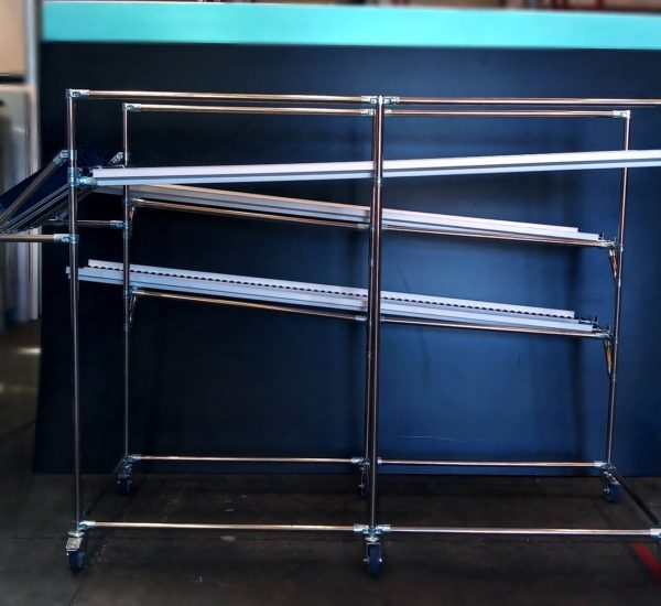 Stainless steel flow rack