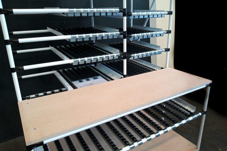Banco da Lavoro per stoccaggio materiali Lean Manufacturing