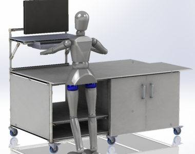 Lean Manufacturing Workbench in stainless steel
