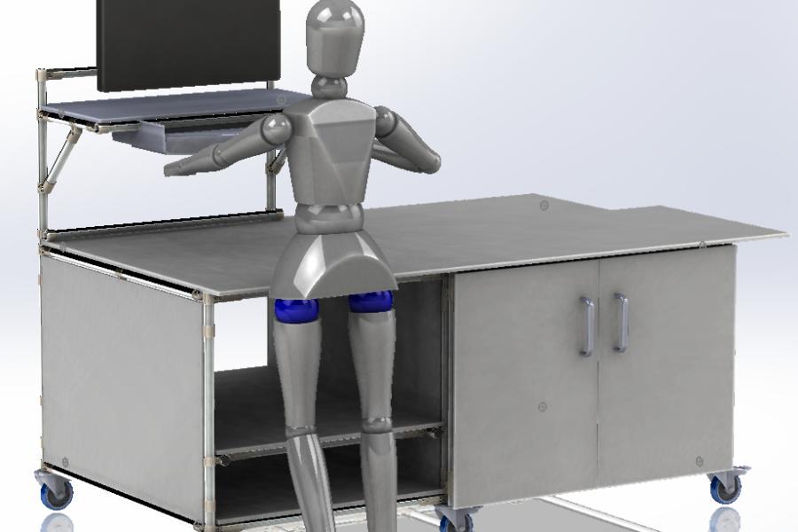 Postazione da Lavoro Lean Manufacturing in acciaio inox