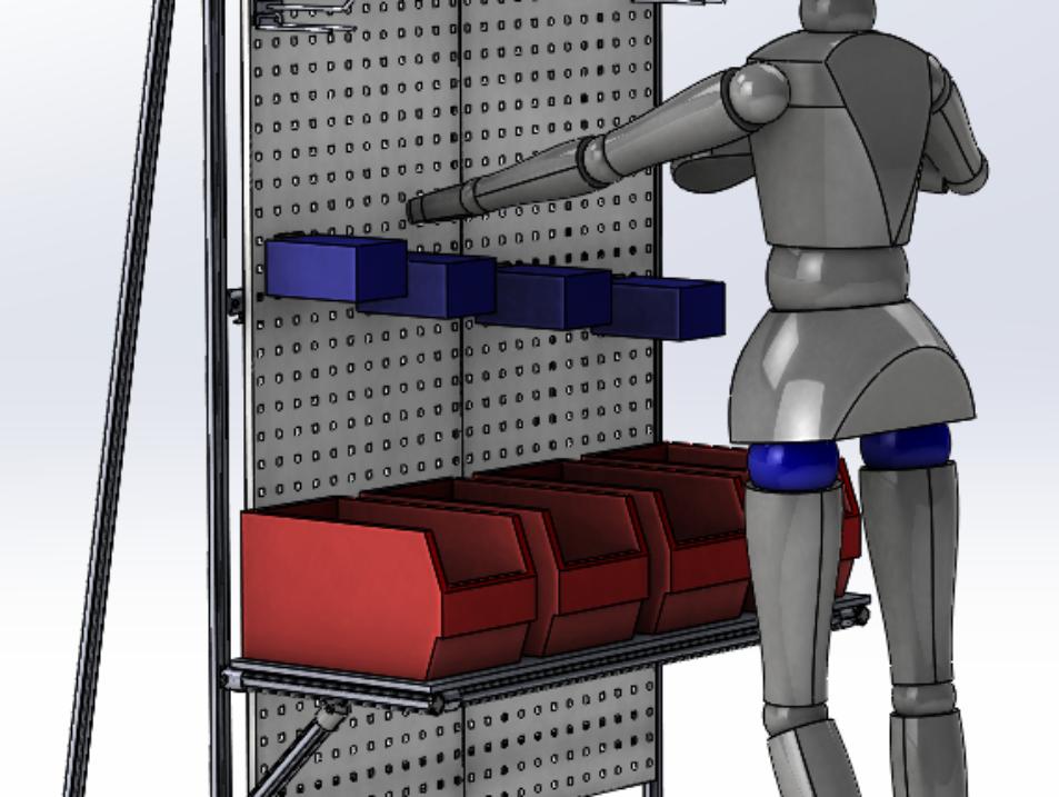 Struttura Lean Manufacturing per supporto cinghie