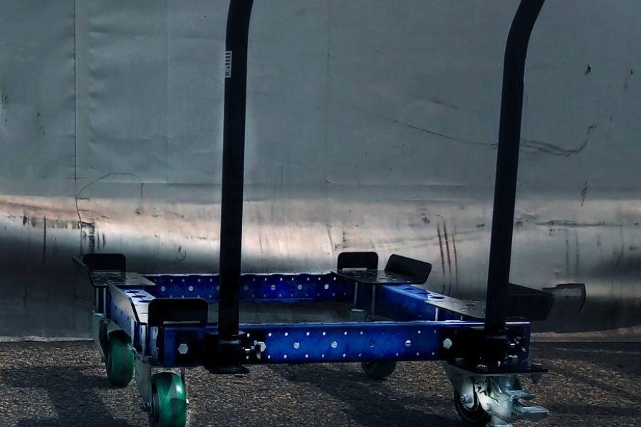 Carrello Lean Manufacturing porta pallets e contenitori
