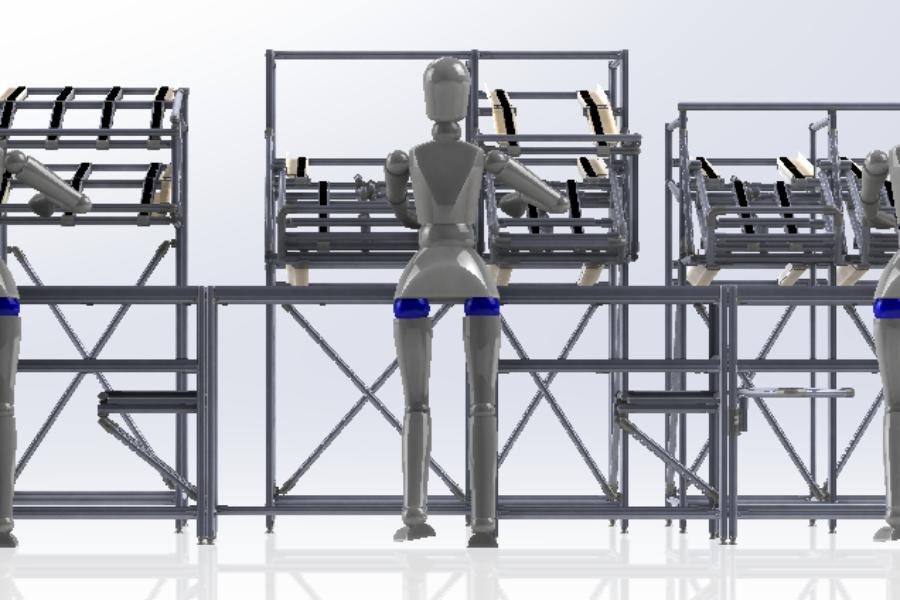 Isola di Lavoro Lean Manufacturing