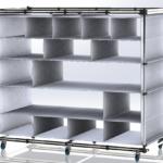 Struttura Lean Manufacturing con telo in PVC