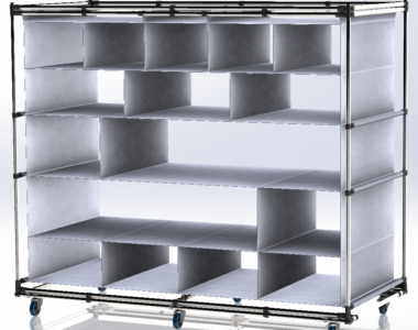 Lean Manufacturing Cart with PVC sheet
