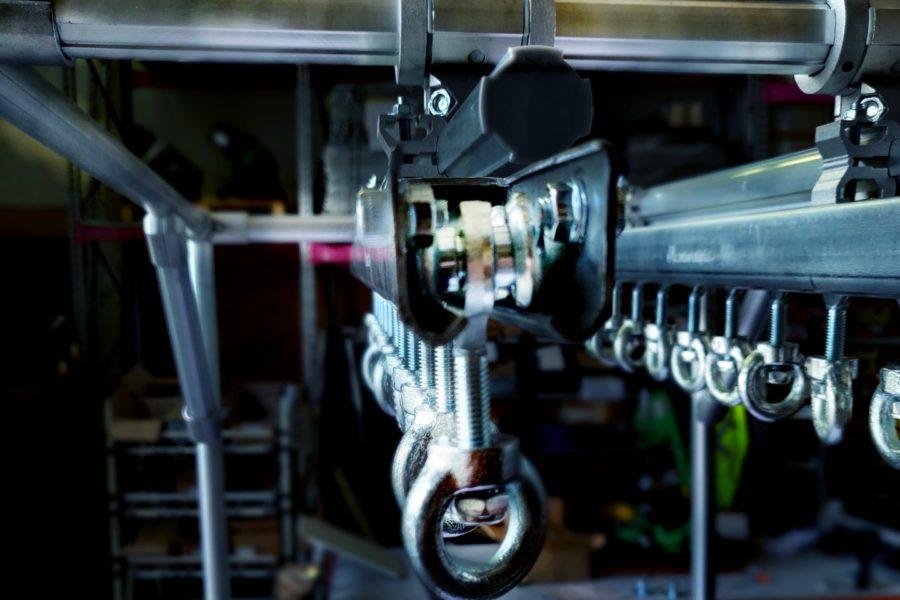 Carrello Lean Manufacturing con binari per monorotaia