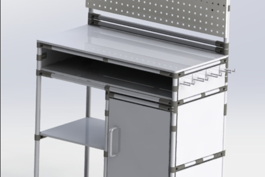 Lean Manufacturing Workbench for work tools