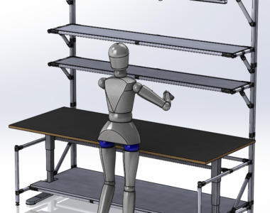 Lean Manufacturing UP & DOWN Workstation