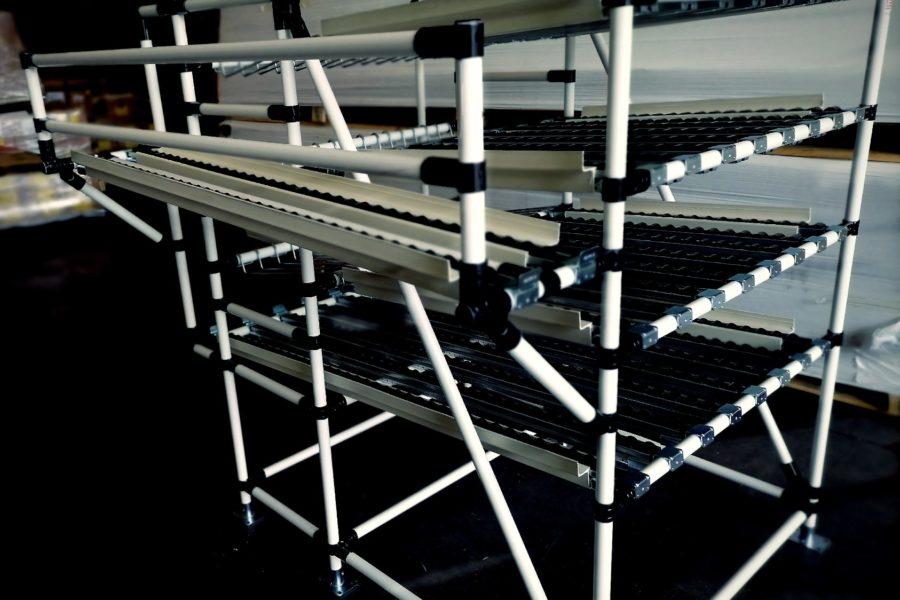 Scaffali a Gravità Lean Manufacturing