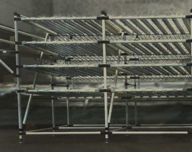 Lean Manufacturing gravity shelves